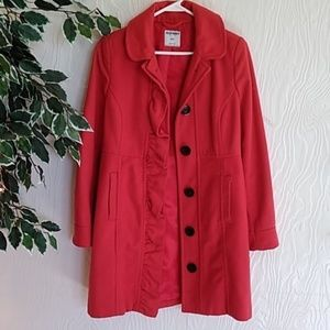 Old Navy long Coral wool winter coat small